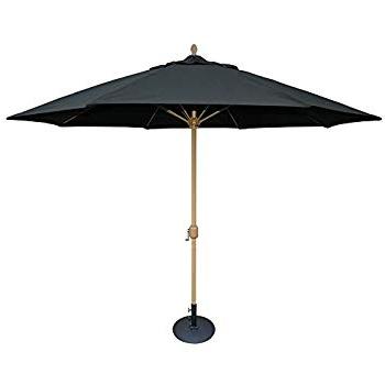 Amazon : Tropishade 11' Sunbrella Patio Umbrella With Black Pertaining To Most Recently Released Sunbrella Black Patio Umbrellas (View 5 of 15)