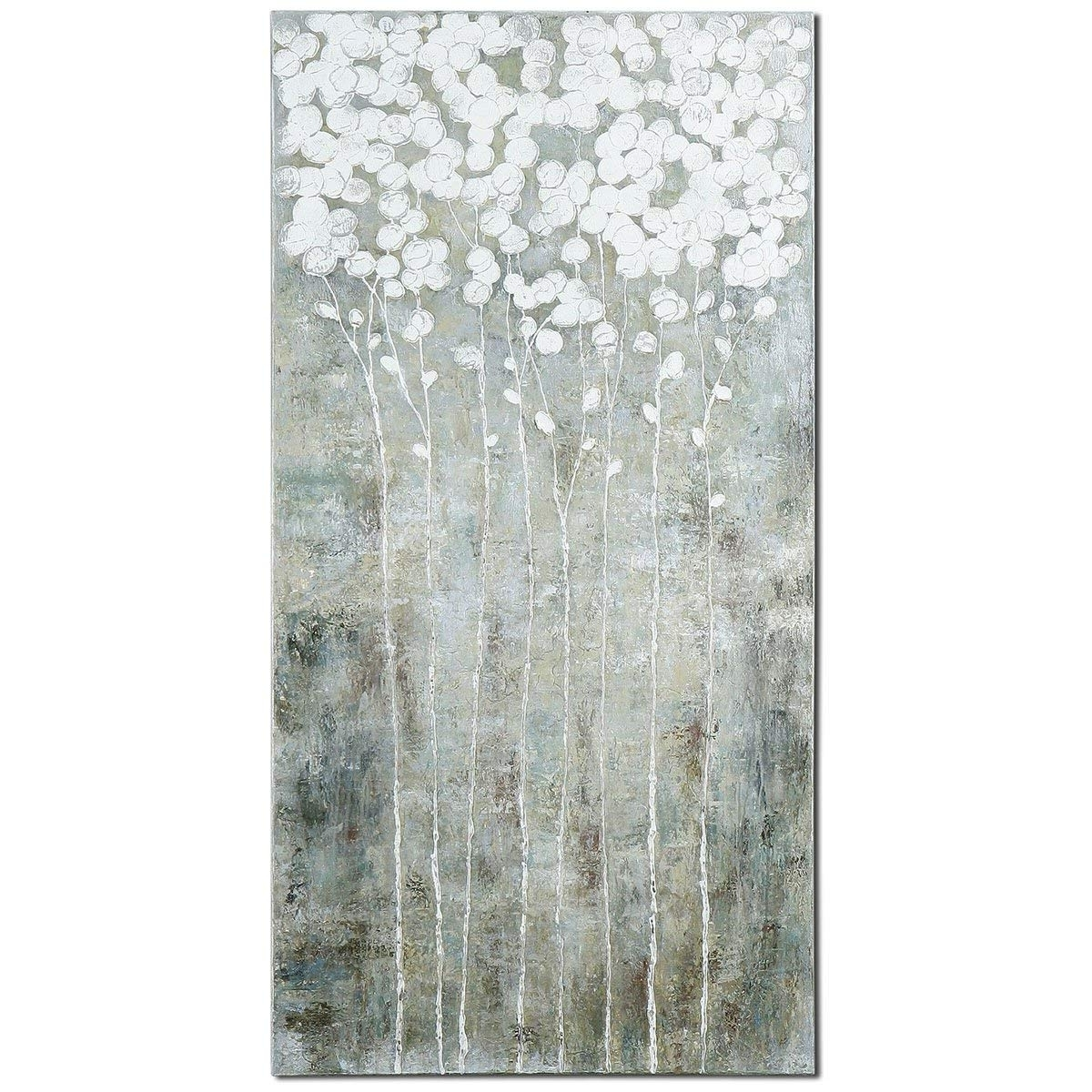Amazon: Uttermost 41908 Cotton Florals Wall Art: Chandeliers Pertaining To Most Recently Released Uttermost Wall Art (View 3 of 15)