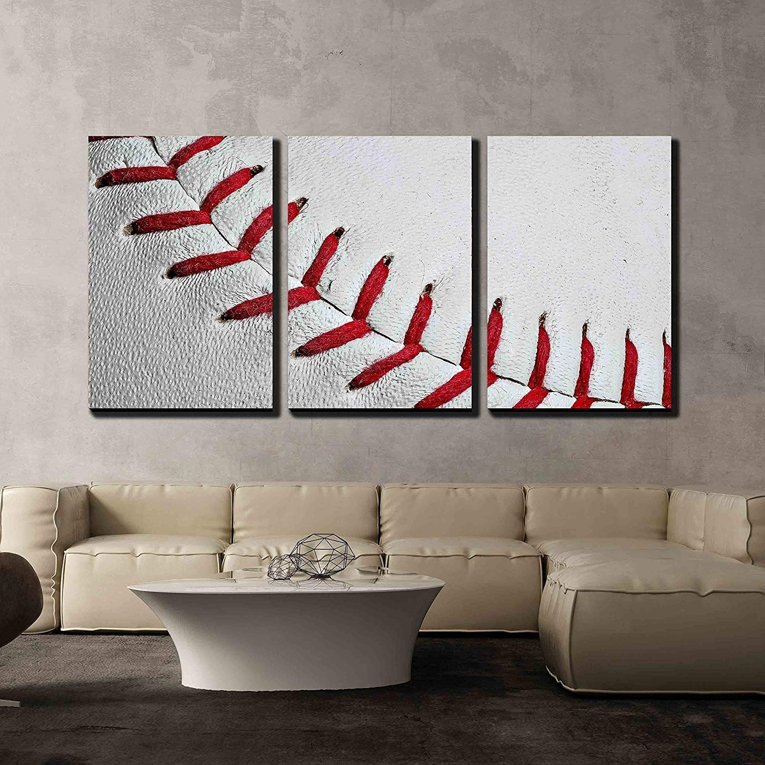 Amazon: Wall26 – 3 Piece Canvas Wall Art – Baseball Seams Inside Favorite Baseball Wall Art (View 3 of 15)