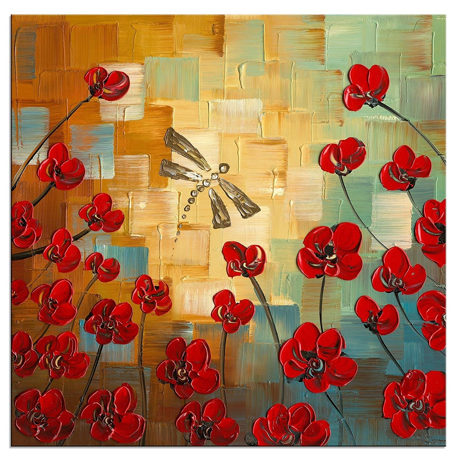 [%Amazon: Wieco Art Dragonfly Modern Flowers Artwork 100% Hand Pertaining To Preferred Wall Art Paintings|Wall Art Paintings With Regard To 2017 Amazon: Wieco Art Dragonfly Modern Flowers Artwork 100% Hand|Current Wall Art Paintings Pertaining To Amazon: Wieco Art Dragonfly Modern Flowers Artwork 100% Hand|Favorite Amazon: Wieco Art Dragonfly Modern Flowers Artwork 100% Hand Within Wall Art Paintings%] (View 10 of 15)