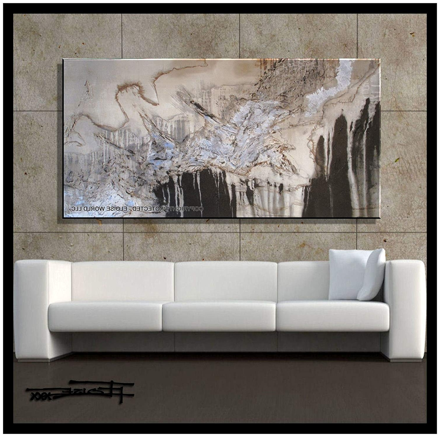 "Amazon: Xl Modern Canvas Wall Art – ""emerging Eagle"" Limited Inside Widely Used Large Contemporary Wall Art (View 2 of 15)"