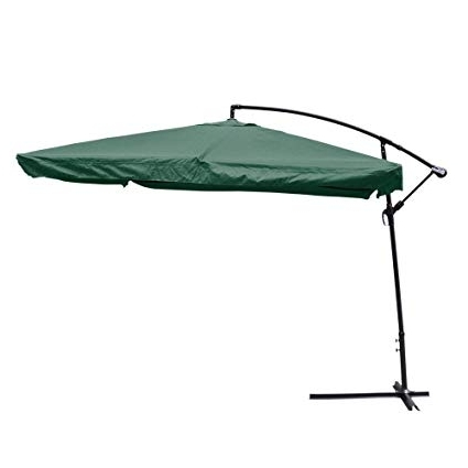 Amazon : Yescom 9' Green Square Outdoor Patio Hanging Offset Within Current Yescom Patio Umbrellas (View 2 of 15)