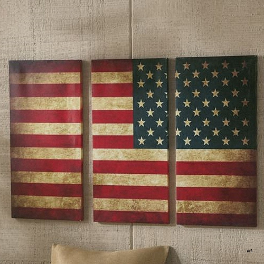 American Flag Wall Art Regarding Famous Best American Flag Wall Art P41Ministry Scheme Of Vintage American (View 2 of 15)