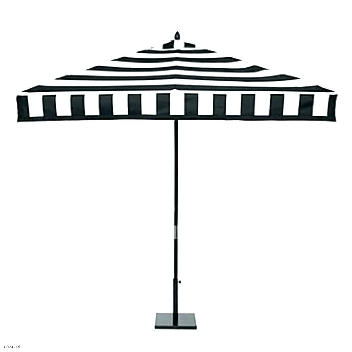 Amp Company Black White Pattern Patio Umbrella And Striped – Te (View 13 of 15)