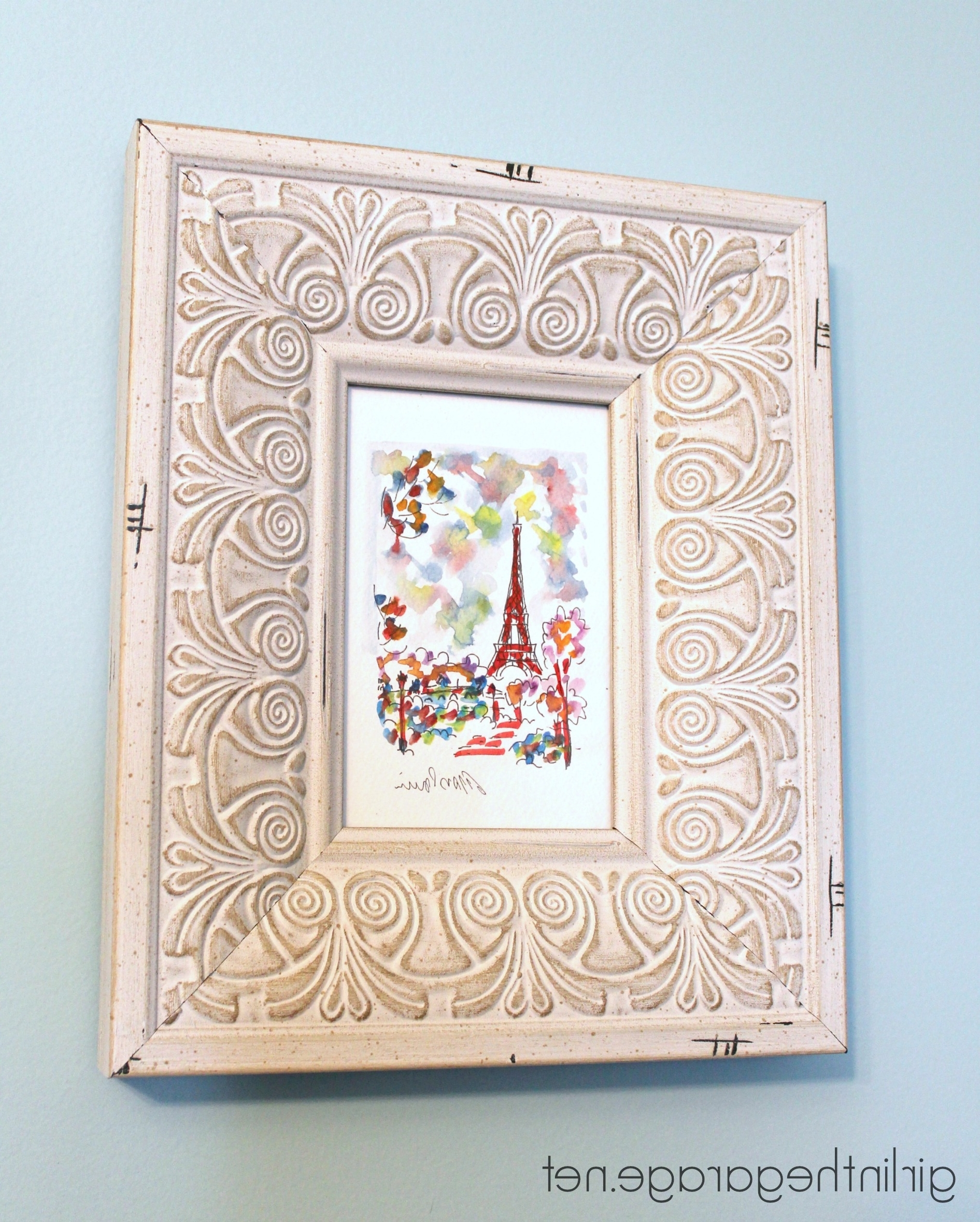 Anthropologie Wall Art Pertaining To Preferred Diy Wall Art: Framed Paris Prints And Anthropologie Inspired Bonjour (View 2 of 15)