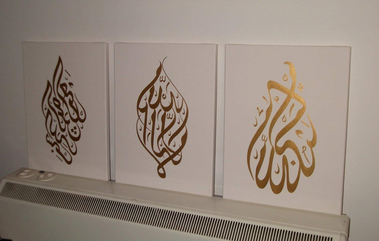 Arabic Calligraphy Islamic Handmade Pictures Wall Art Oil Paintings Inside Current Arabic Wall Art (View 1 of 15)