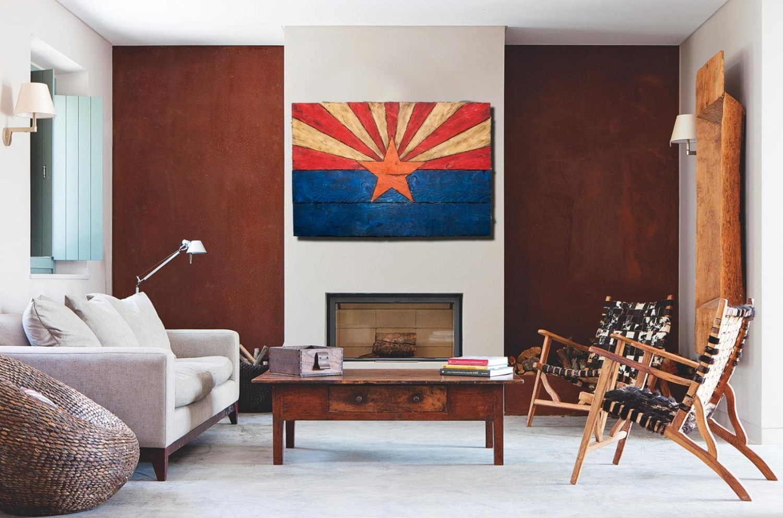 Arizona Wall Art Inside Fashionable Arizona Flag, Handmade, Distressed Painted Wood, Vintage, Art (View 3 of 15)