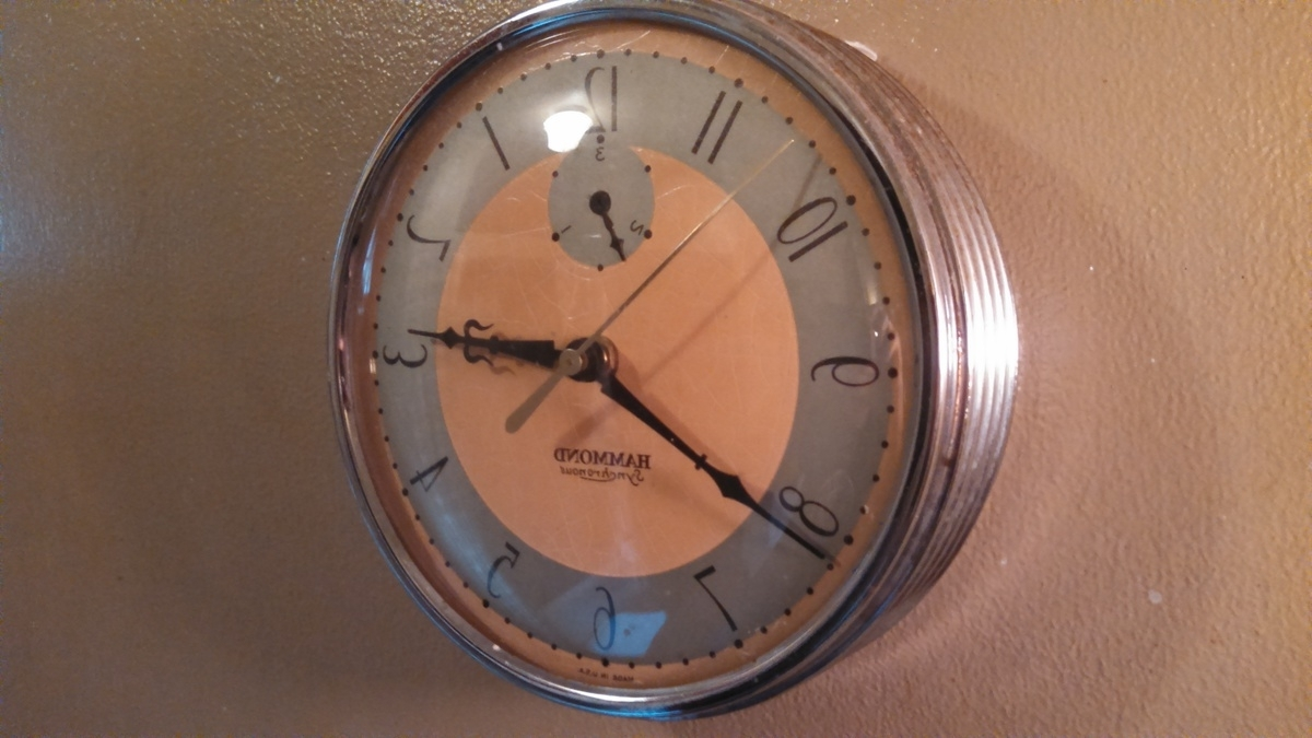 Art Deco Hammond Wall Clock (View 10 of 15)