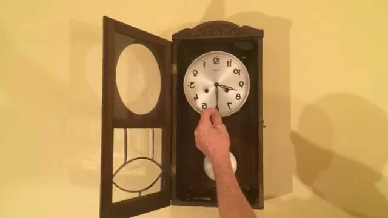 Art Deco Wall Clock In Popular Kienzle Art Deco Wall Clock With – Youtube (View 2 of 15)