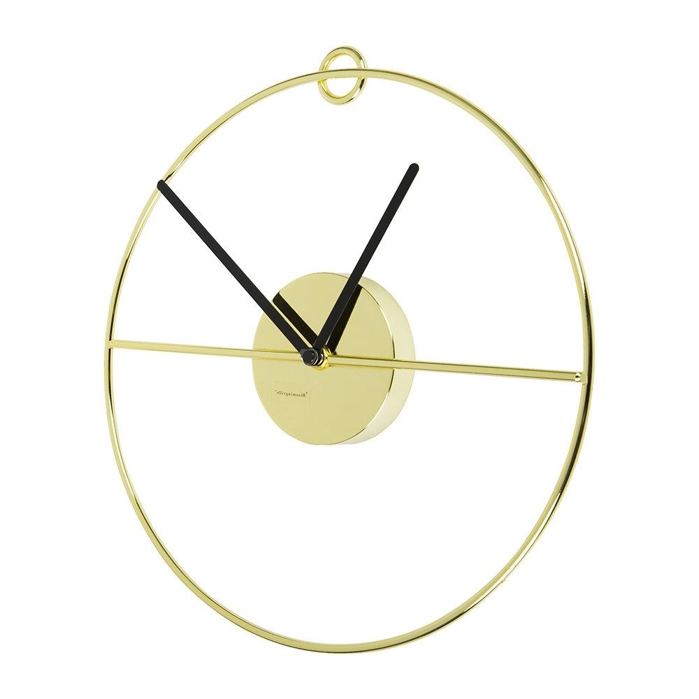 Art Deco Wall Clock Inside Recent Buy Bloomingville Art Deco Wall Clock – Gold/black (View 2 of 15)