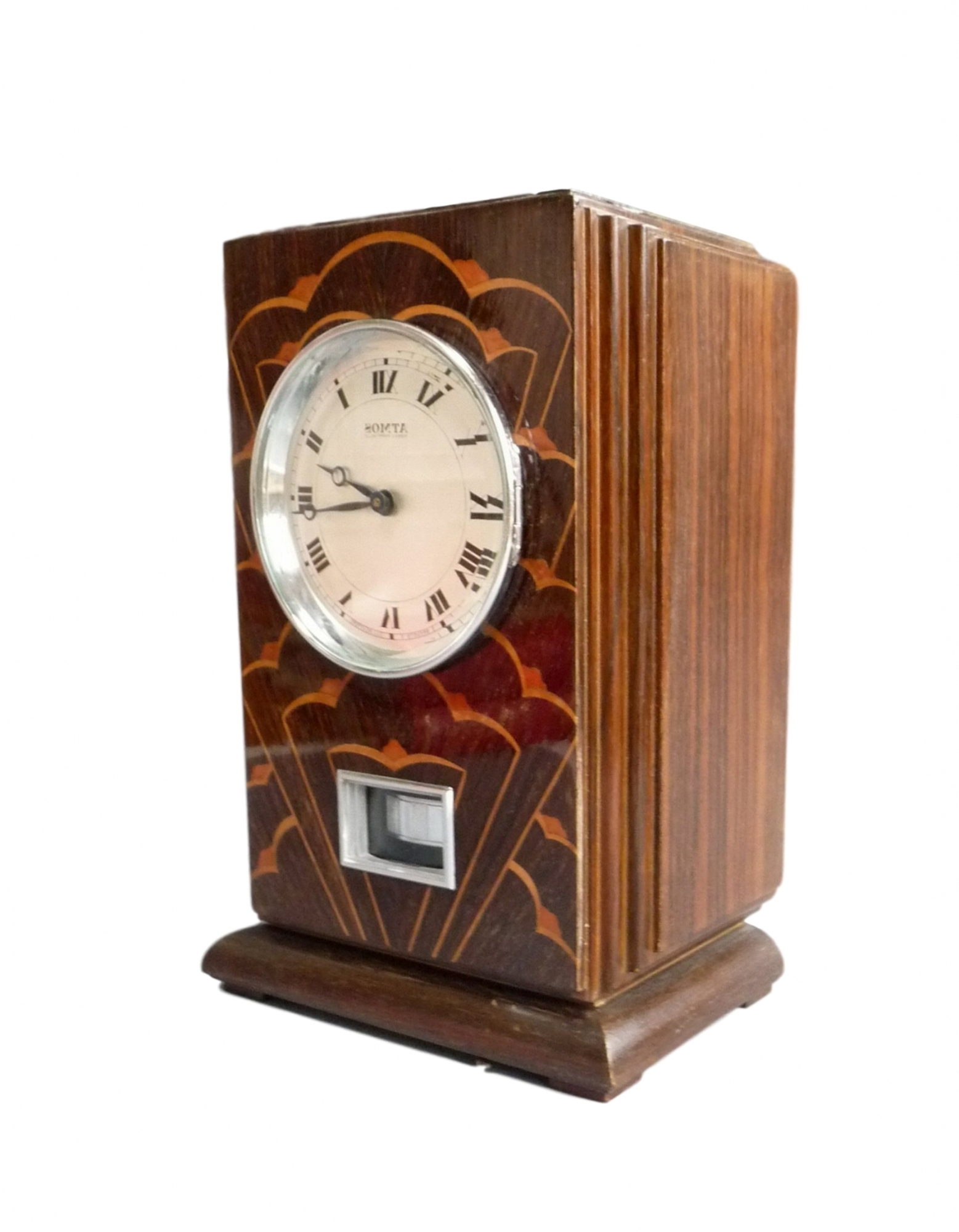 Art Deco Wall Clock With Regard To Famous M169 Coromandel Wooden Reutter Atmos Clock, Art Deco Period And (View 14 of 15)