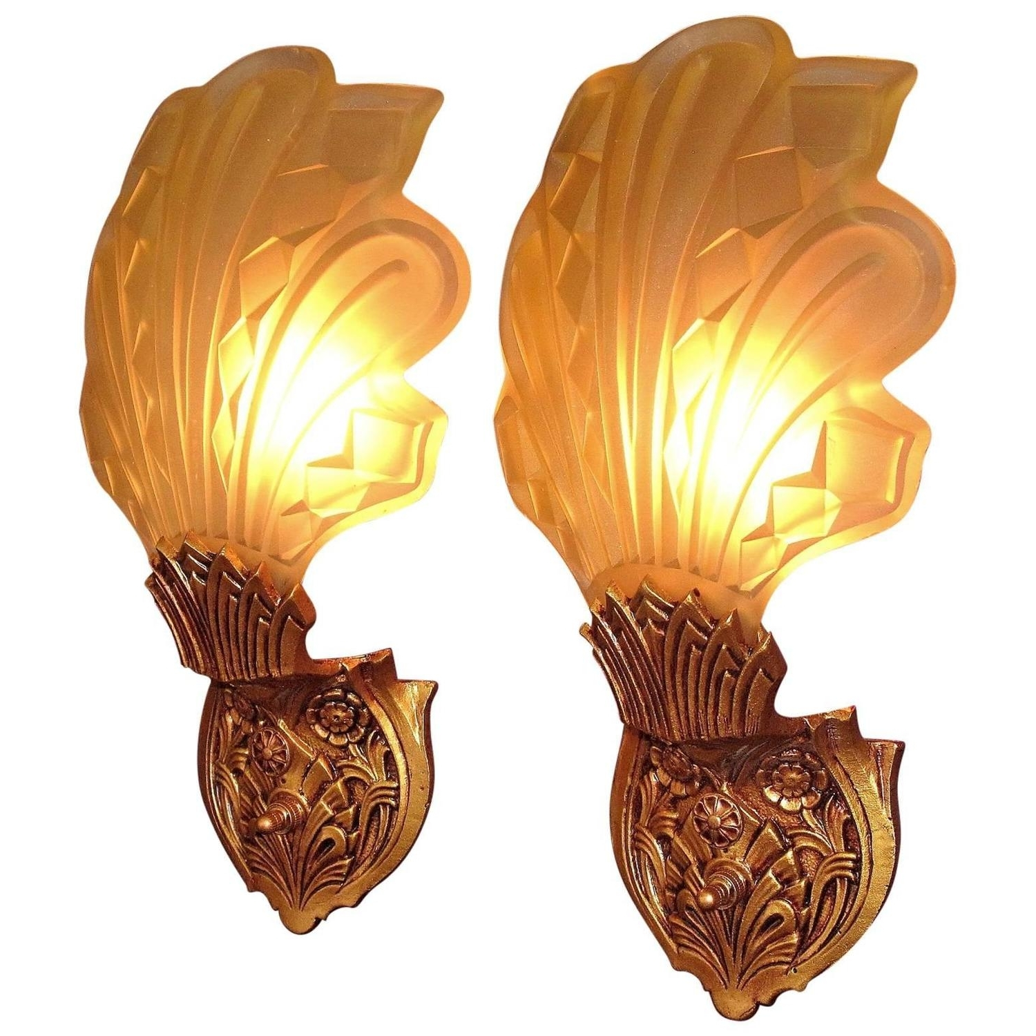 Art Deco Wall Sconces In Preferred Late 1920S Early 1930S Art Deco Wall Sconces For Sale At 1Stdibs (View 4 of 15)