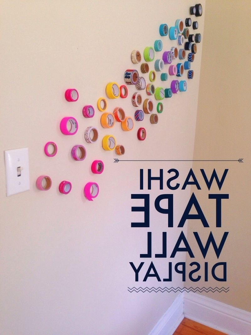 Artistic Wall Instillations {12 Months Of Making: Month 5} • Your Intended For Famous Washi Tape Wall Art (View 1 of 15)