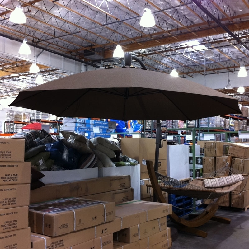 Attractive Patio Umbrellas Costco Costco Tangkak Talk Home In Well Liked Costco Cantilever Patio Umbrellas (View 2 of 15)