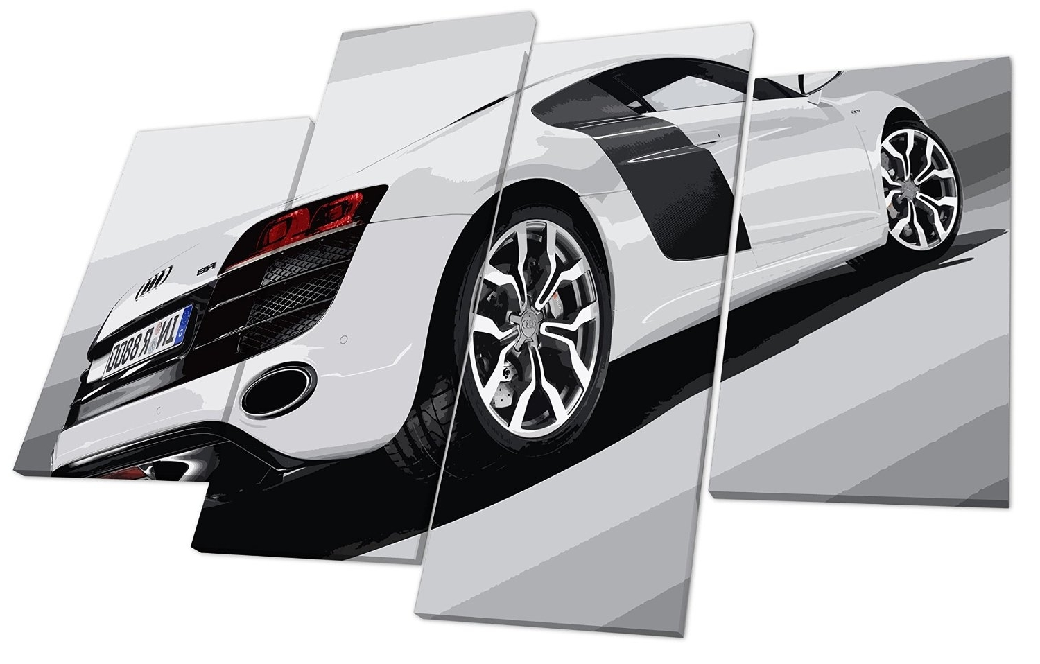 Audi R8 Super Car Canvas Wall Art Picture ~ Audi Picture Gallery With 2018 Car Canvas Wall Art (View 1 of 15)