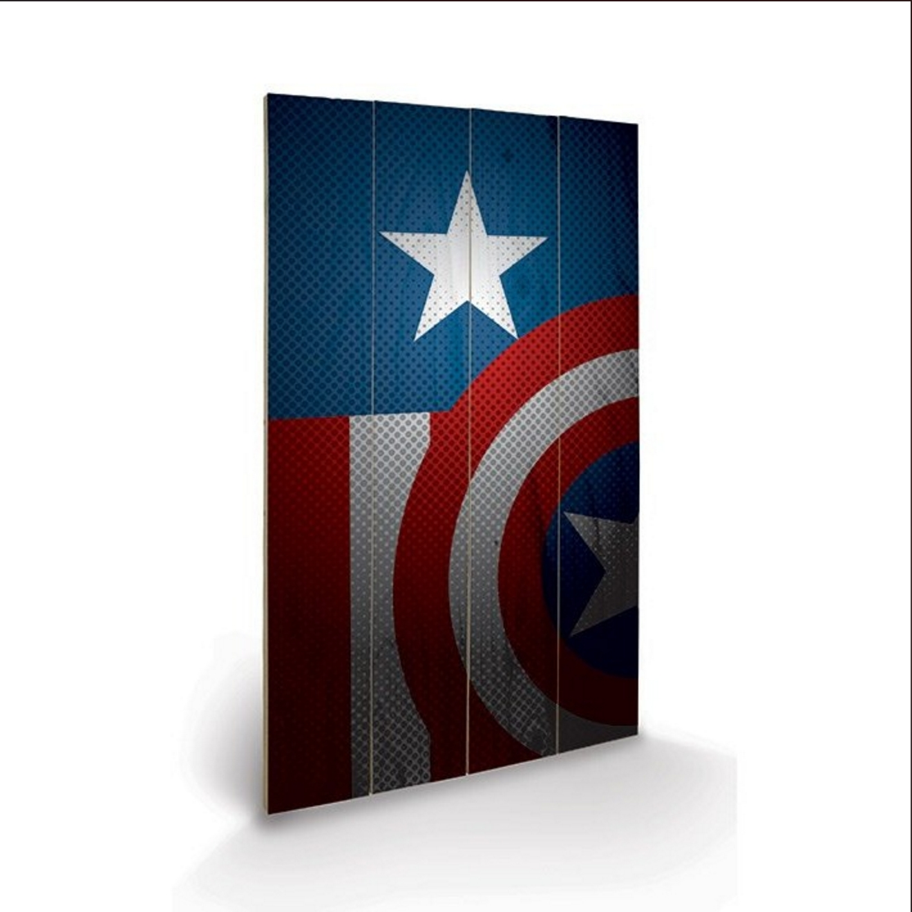Avengers Assemble Captain America Wooden Wall Art – Spree Within Newest Captain America Wall Art (View 15 of 15)
