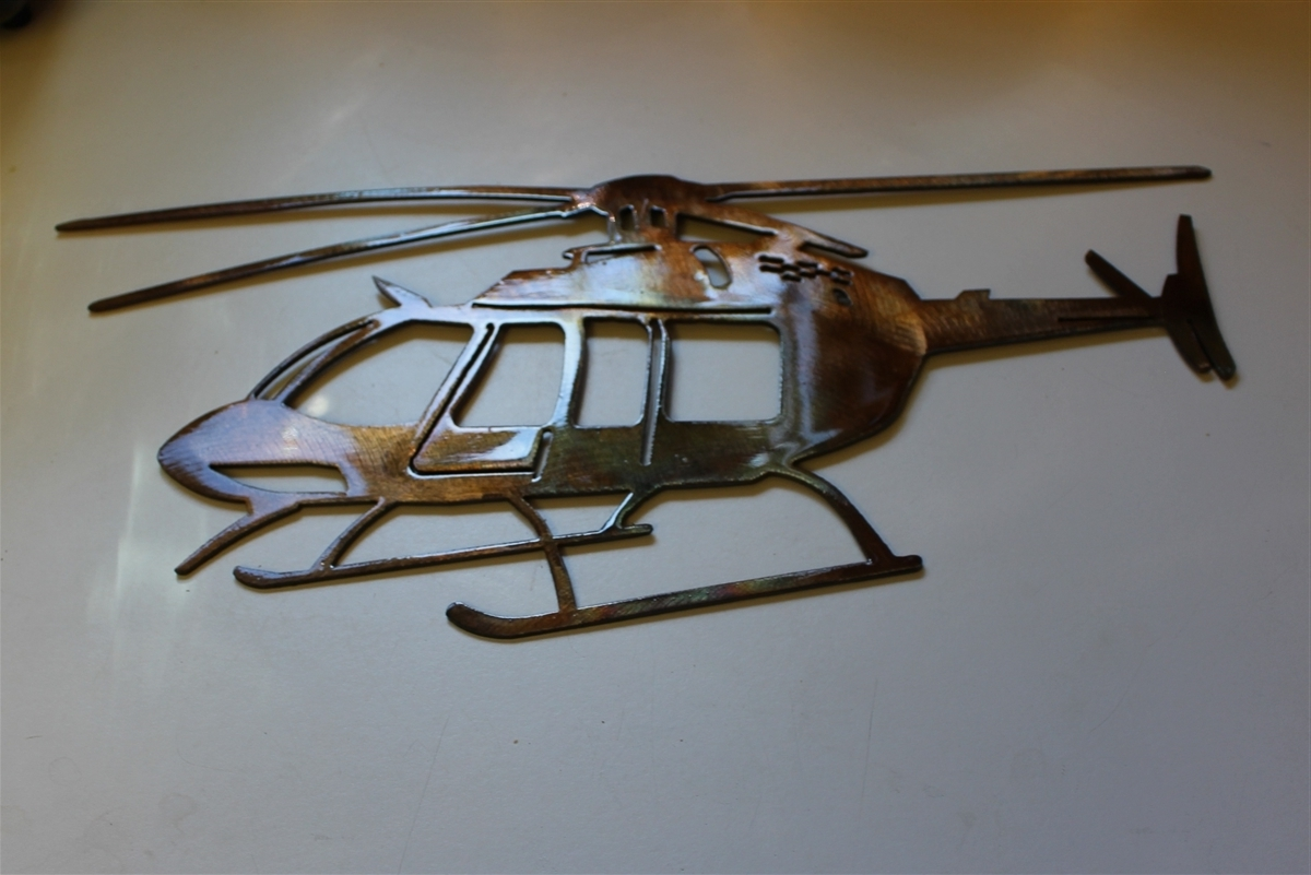 Aviation Wall Art Throughout Most Up To Date Bell Helicopter Metal Wall Art Decor (View 4 of 15)