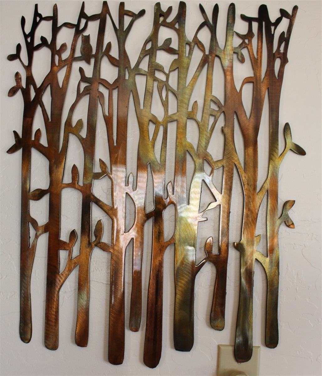 Bamboo Wall Art Inside Well Liked Birch Tree, Birch Tree Metal Art, Bamboo, Bird In The Trees, Bird On (View 2 of 15)