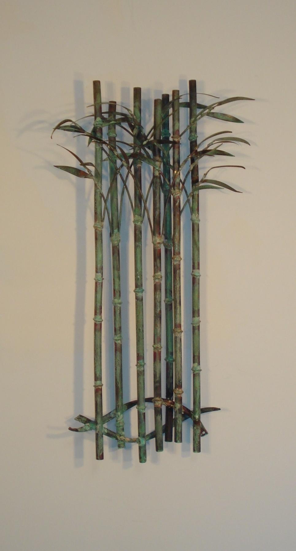 Bamboo Wall Art With Regard To Newest Bamboo Delight Metal Wall Art – Metal Wall Sculpture Decor – Gurtan (View 5 of 15)