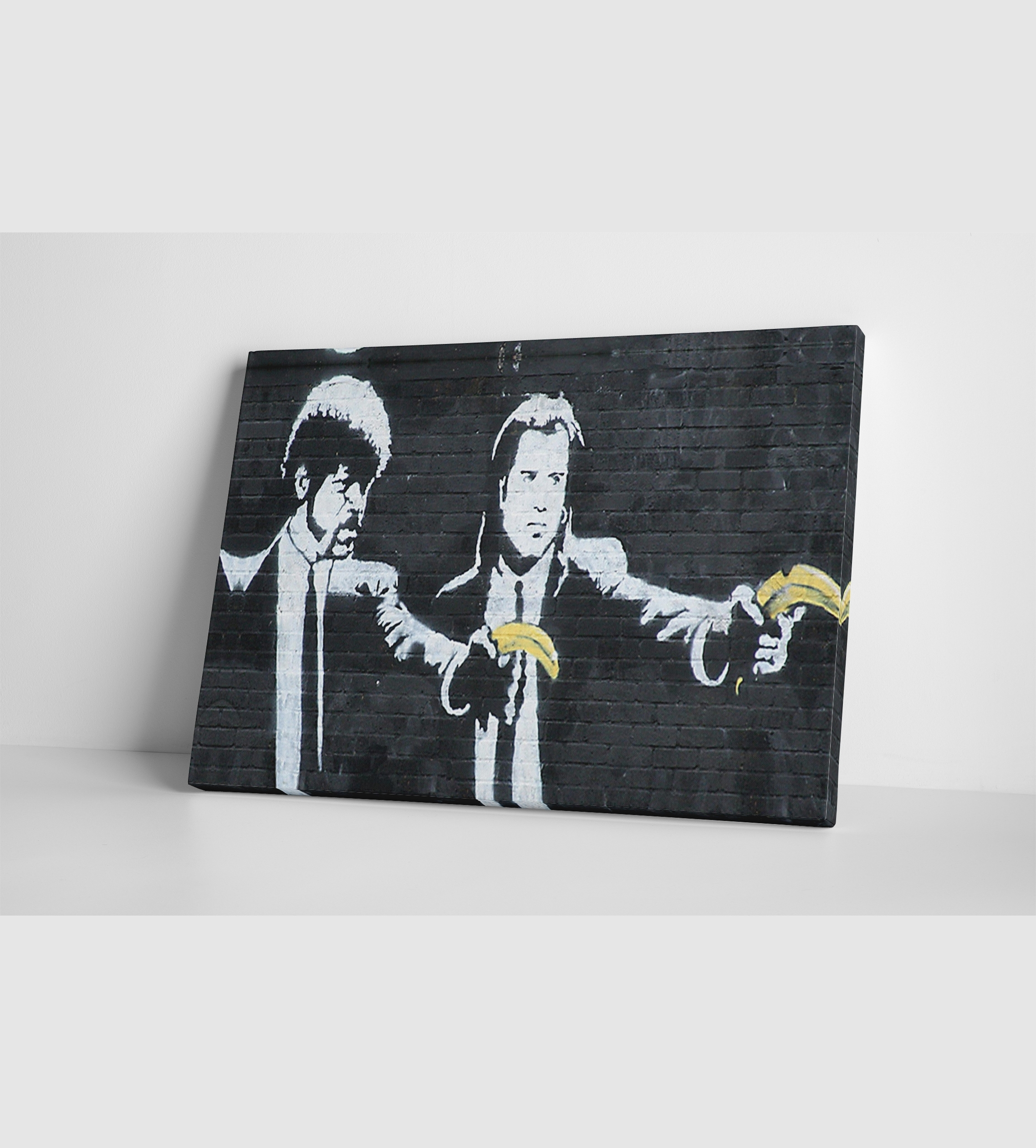 Banksy Pulp Fiction Bananas Canvas Wall Art Throughout Preferred Canvas Wall Art (View 8 of 15)