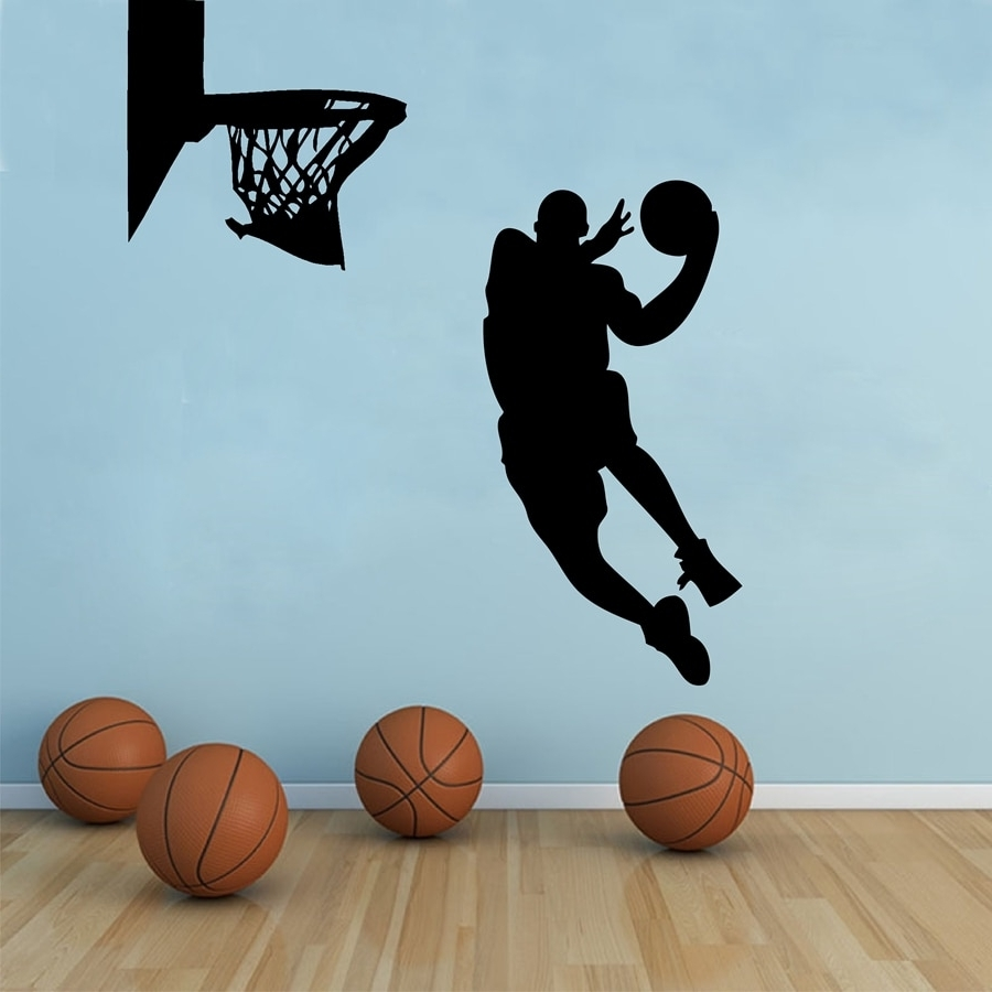 Basketball Wall Art In Trendy Free Shipping Large Size Basketball Wall Art Decor ,basketball (View 2 of 15)