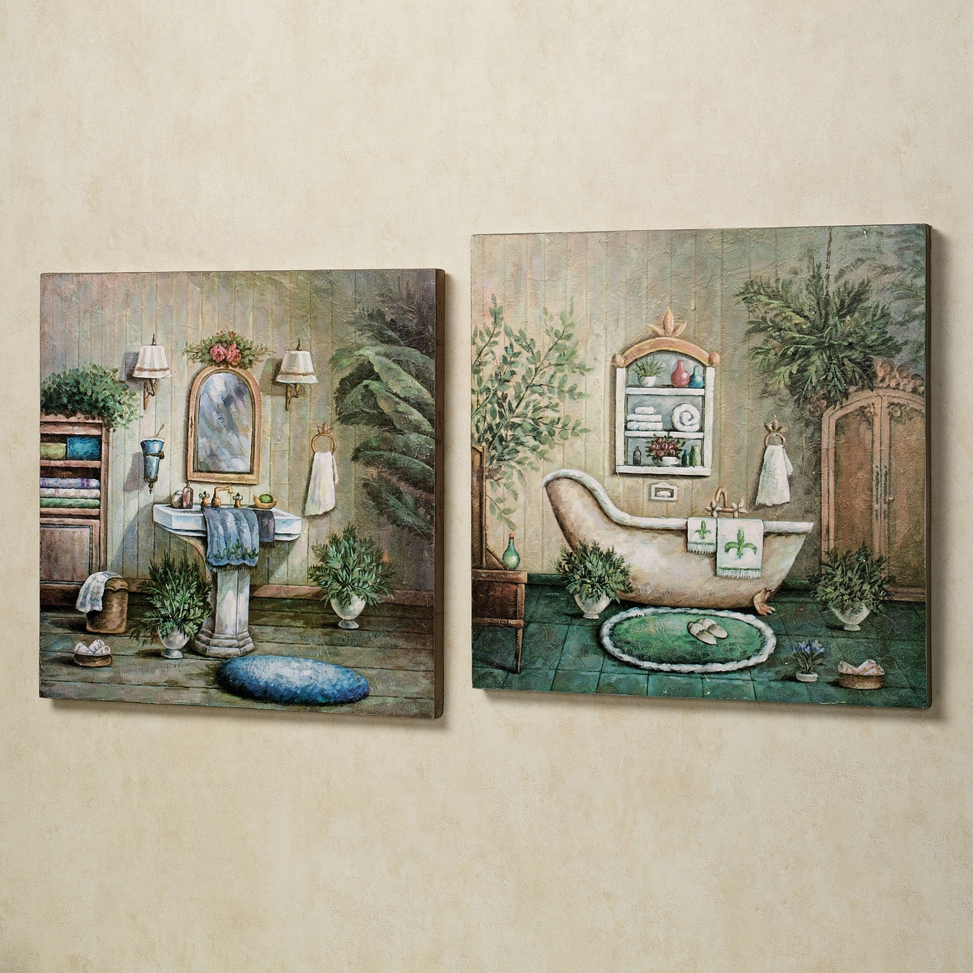 Bathroom : Contemporary Bathroom Decorating Ideas With Artistic Wall For Widely Used Bathroom Wall Art Decors (View 11 of 15)