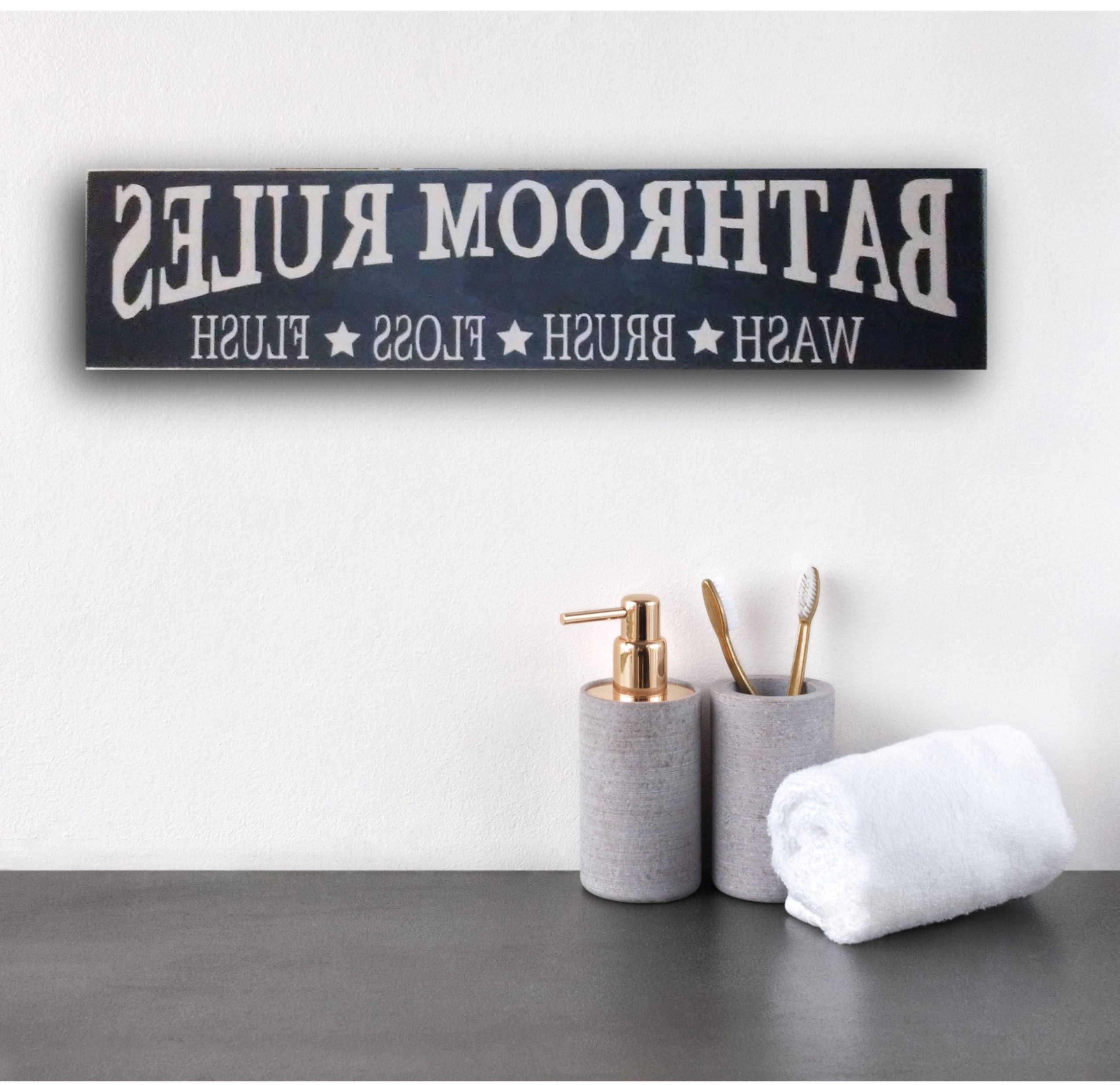 Bathroom Rules Wall Art For Current Rustic Bathroom Sign, Rustic Bathroom Rules Sign, Rustic Bathroom (View 11 of 15)