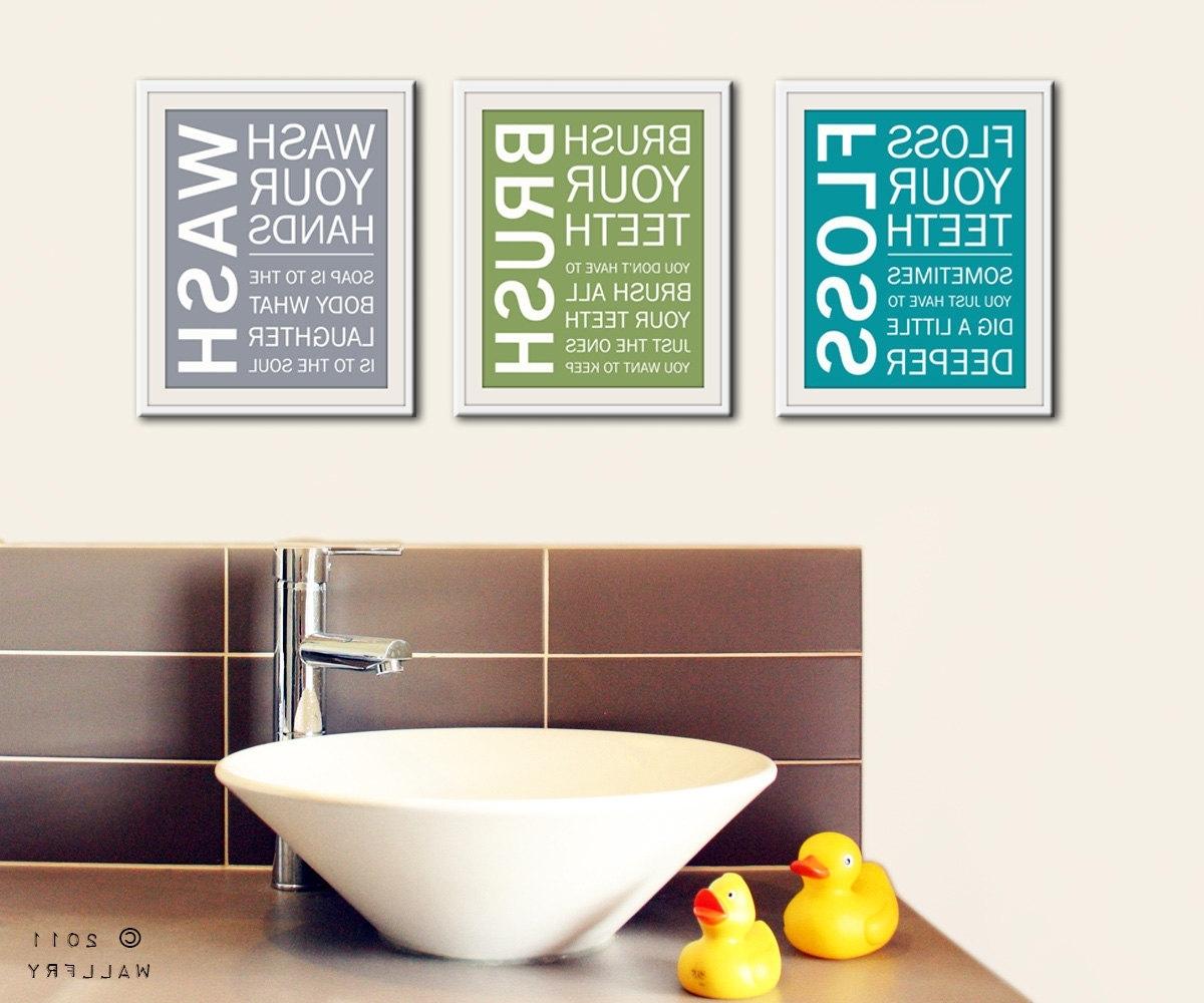 Bathroom Wall Art & Decorating Tips » Inoutinterior Regarding Most Recent Bathroom Wall Art (View 9 of 15)