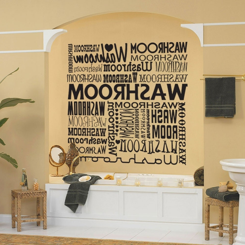 Bathroom Wall Art Decors Within 2017 Beautiful Bathroom Wall Art And Decor : Bird Bathroom Wall Art And (View 8 of 15)