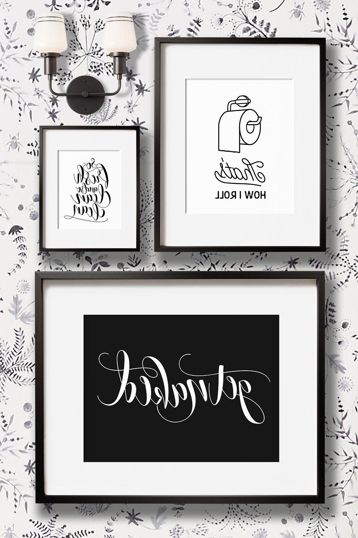 Bathroom Wall Art For 2018 Funny Bathroom Wall Decor Art Prints – Printable Art And Prints From (View 13 of 15)