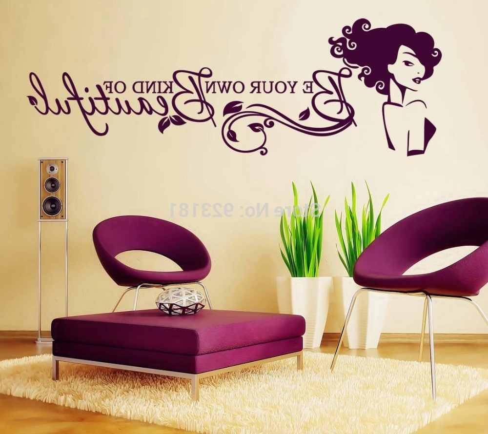 Be Your Own Kind Of Beautiful Wall Art With Regard To Most Recently Released Be Your Own Kind Of Beautiful Wall Decal – Culturehoop (View 9 of 15)