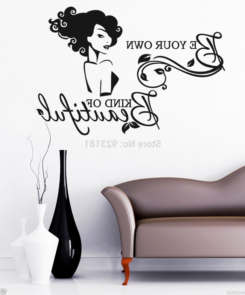 Be Your Own Kind Of Beautiful Wall Sticker Image Collections - Home with regard to Famous Be Your Own Kind Of Beautiful Wall Art