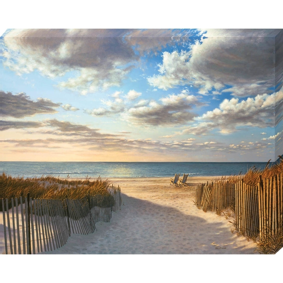 """Beach Wall Art Pertaining To Most Recently Released Shop 30"""" X 38"""" Sunset Beach Canvas Wall Art At Lowes (View 7 of 15)"""