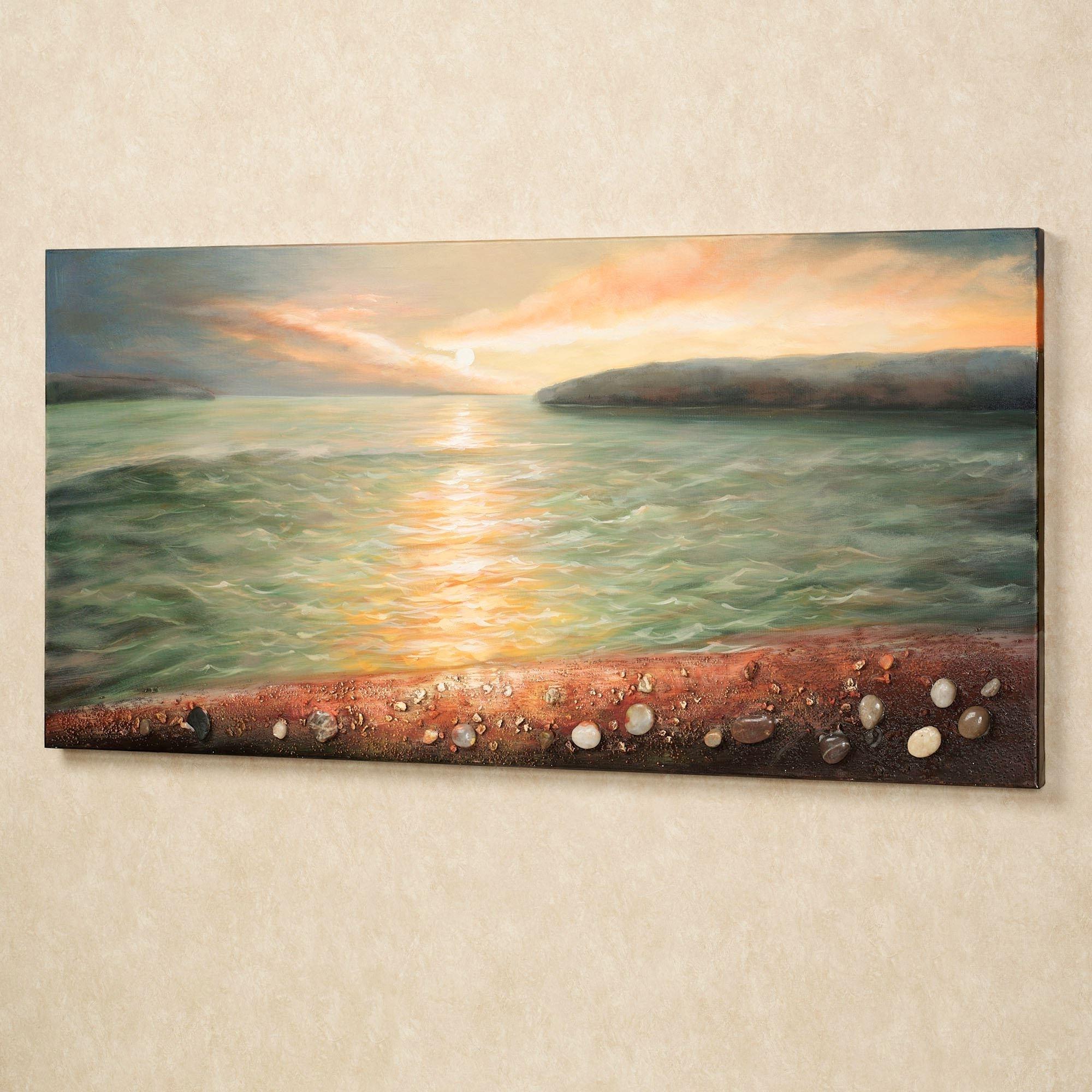 Beach Wall Art With 2017 Sunrise On Pebble Beach Canvas Wall Art (View 8 of 15)