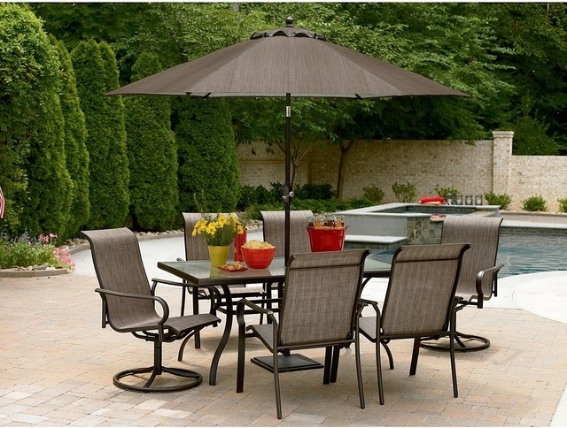 Featured Photo of Patio Furniture Sets With Umbrellas
