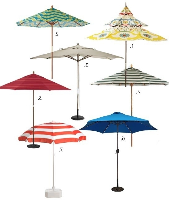 Beautiful Small Patio Umbrellas Small Patio Umbrella Modern With Regard To Well Known Small Patio Umbrellas (View 9 of 15)
