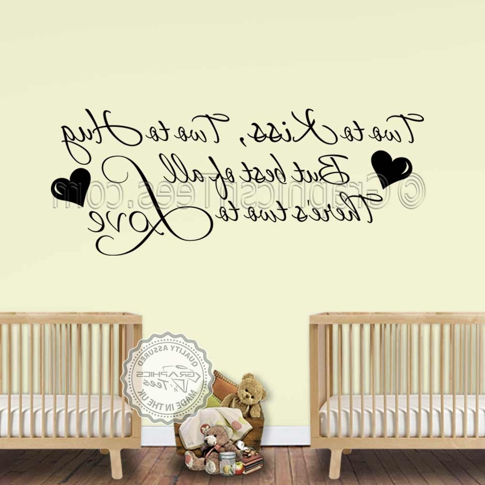 Bedroom Wall Art With Regard To Well Known Nursery Wall Sticker For Twins Baby Boys Girls Bedroom Wall Decor (View 6 of 15)