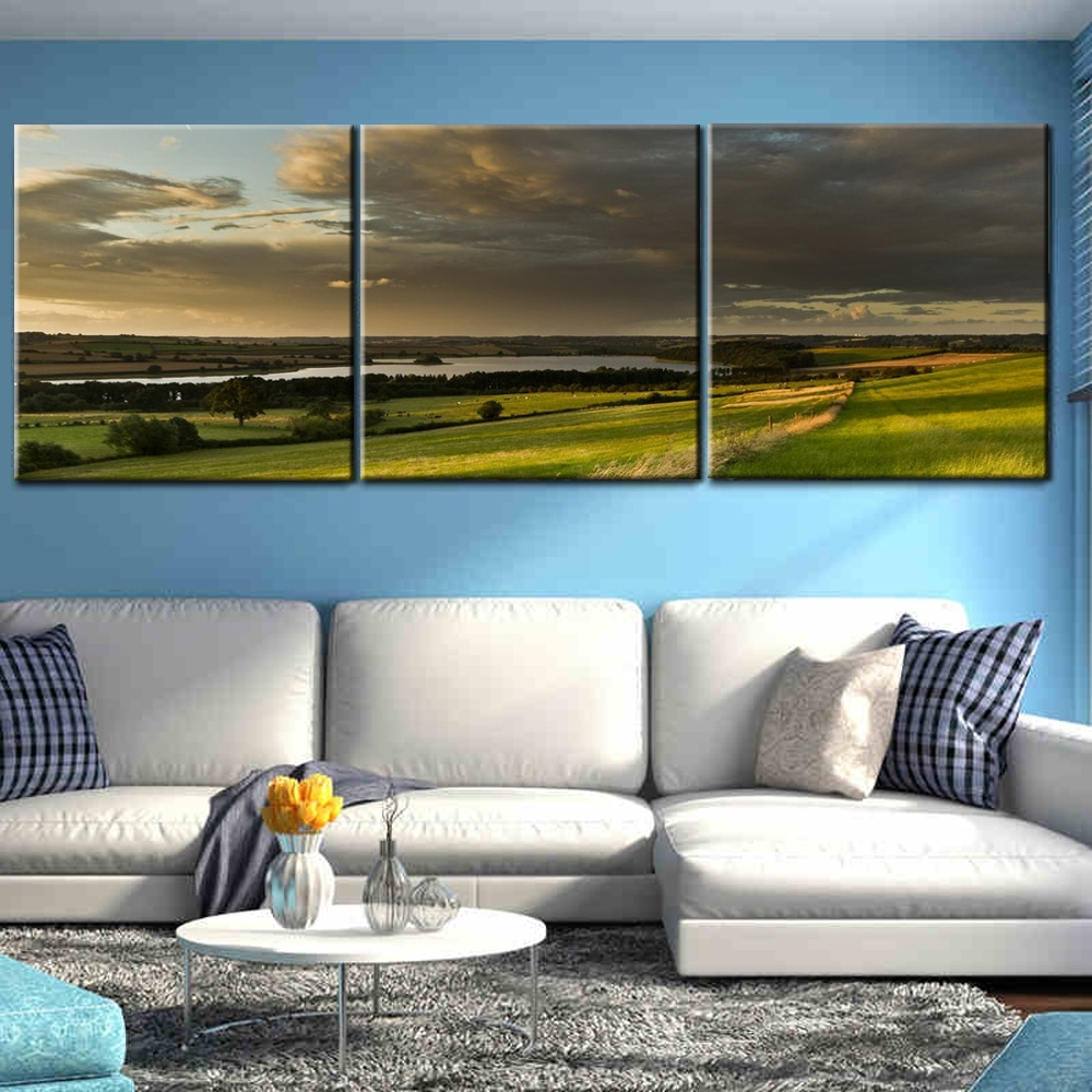 Best And Newest 3 Piece Canvas Wall Art Throughout Modern Glass Painting Designs 3 Panel Canvas Wall Art With Acid Free (View 6 of 15)