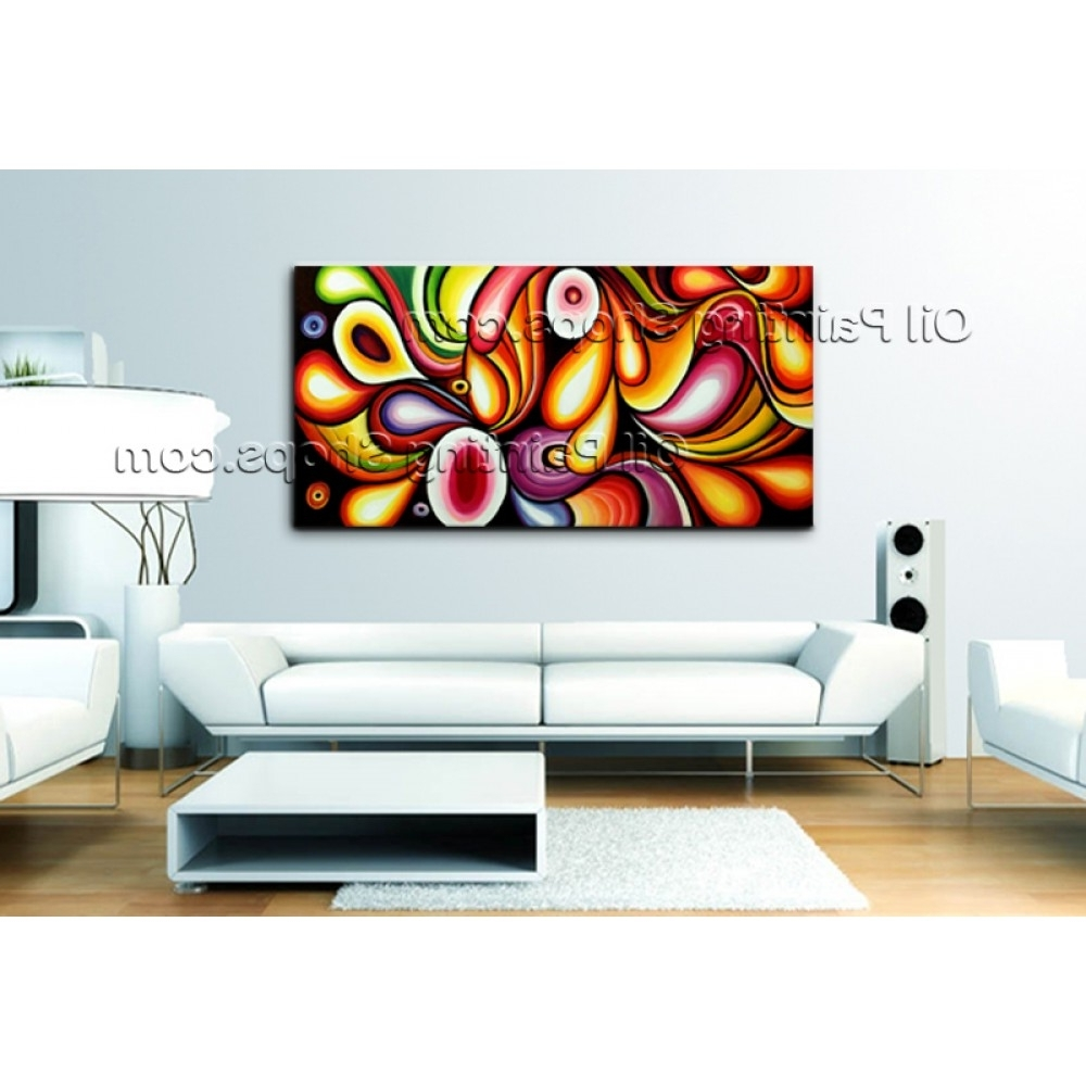 Best And Newest Abstract Oil Painting Wall Art Within Extra Large Wall Art Original Modern Abstract Oil Painting On (View 9 of 15)