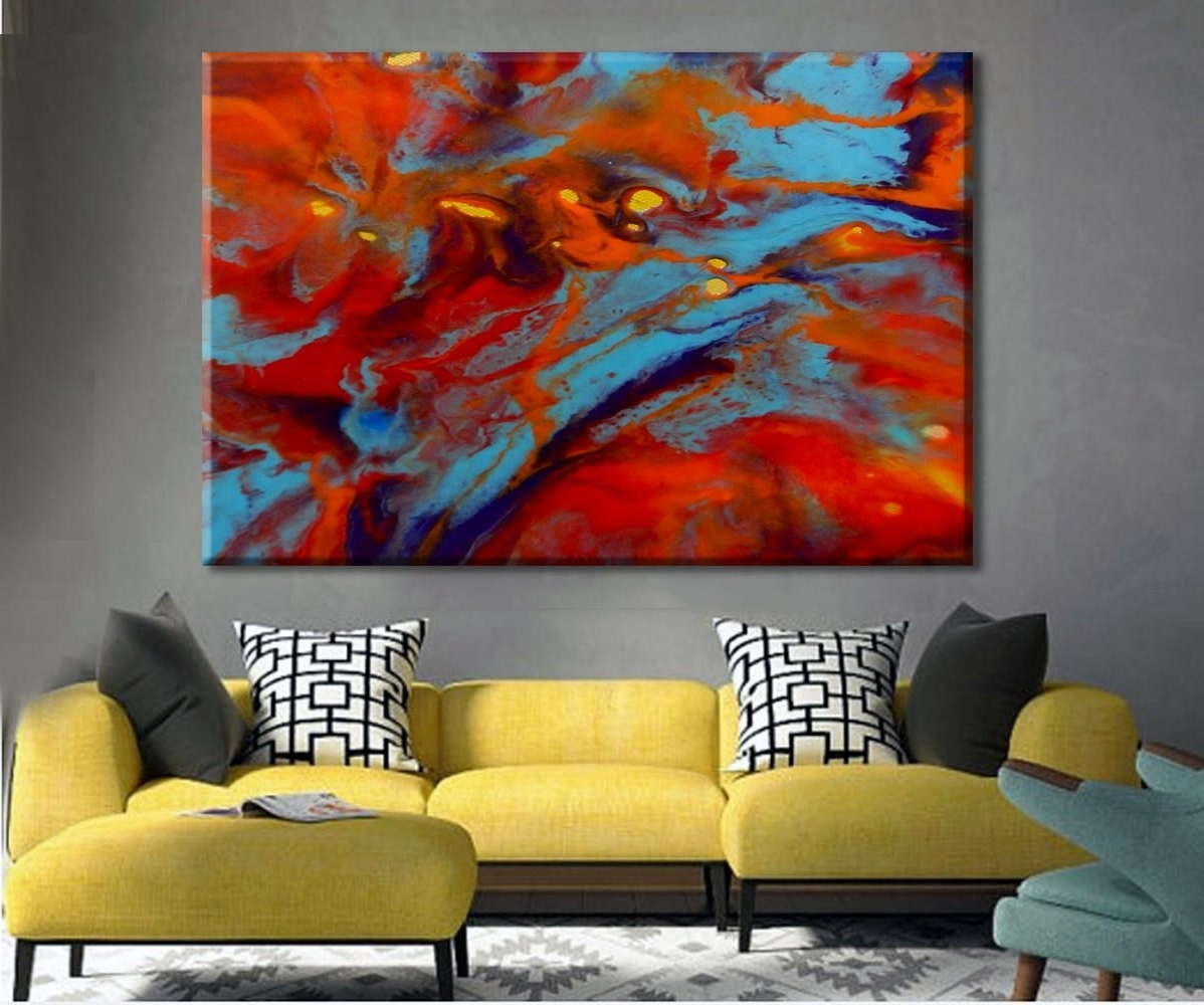 Best And Newest Abstract Oversized Canvas Wall Art Regarding Oversize Art Print, Colorful Art, Large Canvas Print, Abstract (View 6 of 15)