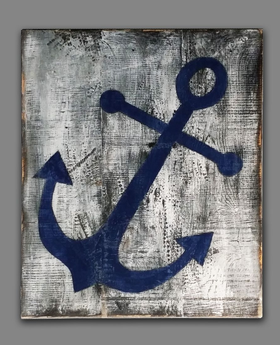 Best And Newest Anchor Wall Art For A Beach House Or Nautical Themed Decor (View 5 of 15)