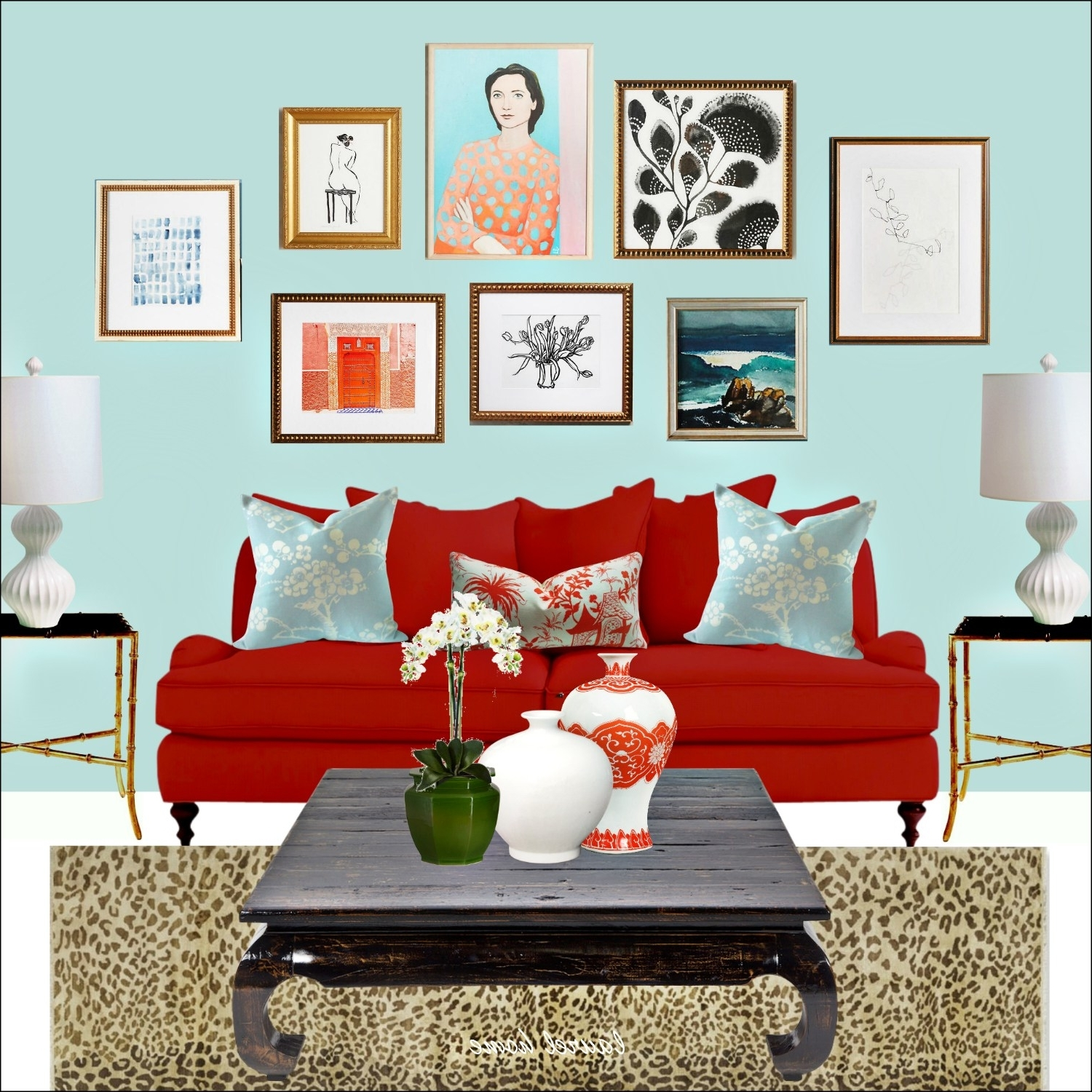 Best And Newest Anthropologie Art Wall With Artfully Walls Art And Red Sofa And Within Artfully Walls (View 12 of 15)