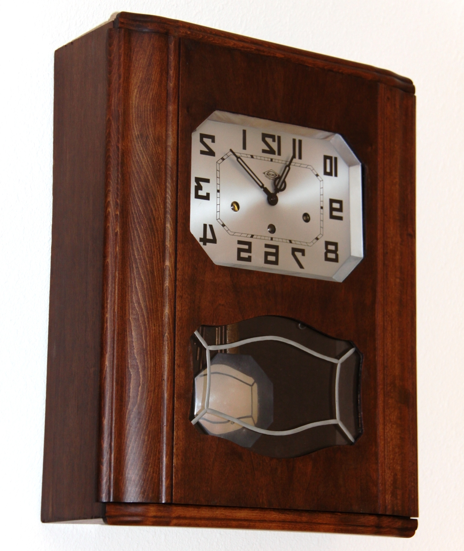 Best And Newest Art Deco Wall Clock In French Irod Clock (View 9 of 15)