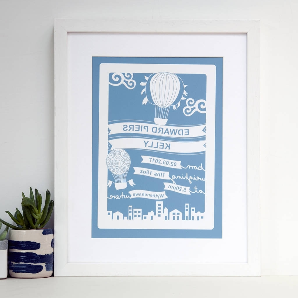 Best And Newest Baby Wall Art In Personalised Baby Wall Art Printant Design Gifts (View 7 of 15)