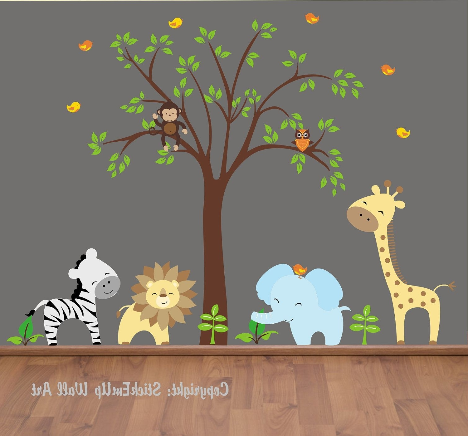 Best And Newest Baby Wall Decals – 131 – Nursery Wall Decals – Jungle Wall Decals Pertaining To Baby Wall Art (View 7 of 15)