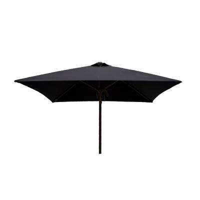 Best And Newest Black Patio Umbrellas Regarding Pulley And Pin Lift System – Black – Market Umbrellas – Patio (View 4 of 15)