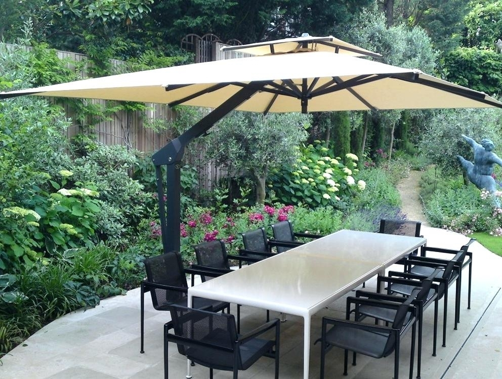 Best And Newest Cantilever Patio Umbrellas Within Cantilever Patio Umbrellas – Home Design Ideas (View 6 of 15)