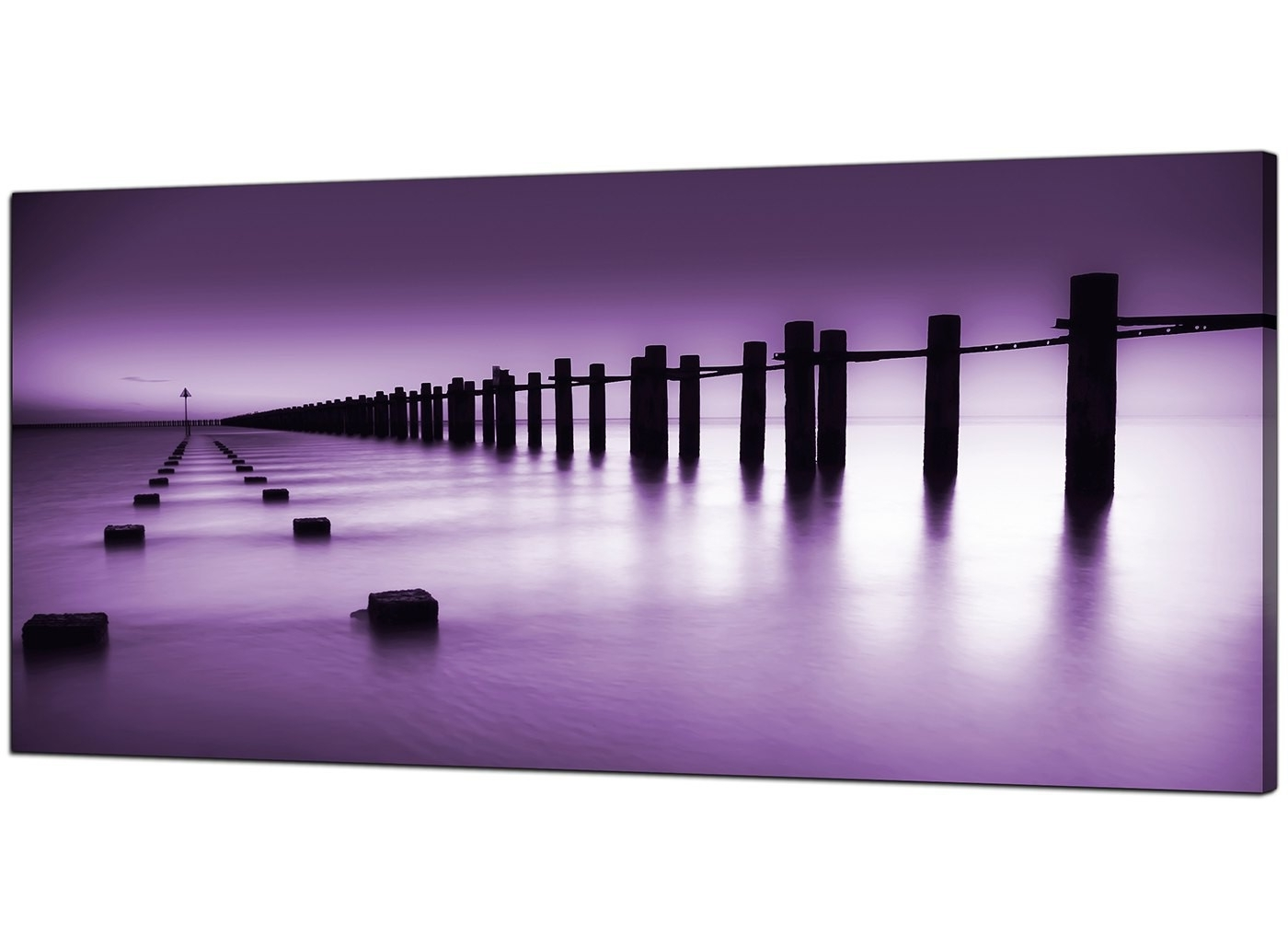 Best And Newest Cheap Purple Canvas Prints Of The Seaside Throughout Purple Wall Art Canvas (View 1 of 15)