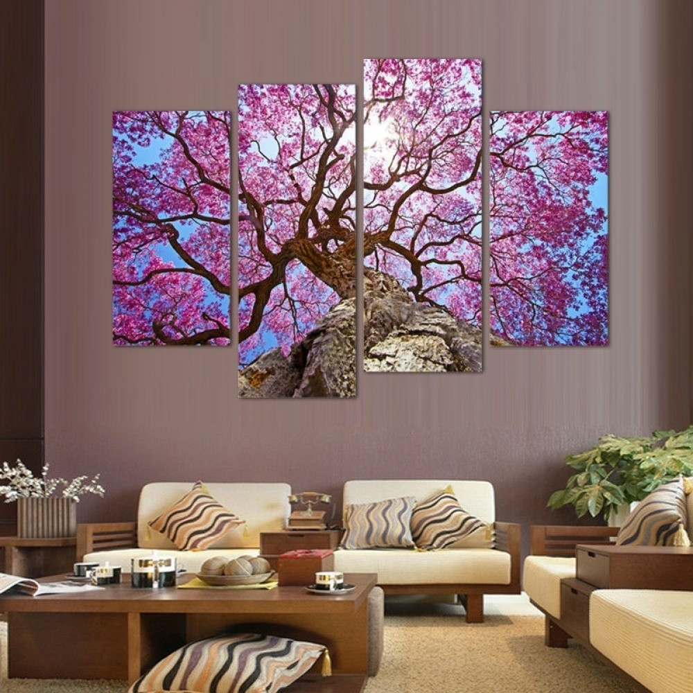 Best And Newest Cherry Blossom Wall Art Throughout Cherry Blossoms Wall Art Oil Painting (View 3 of 15)