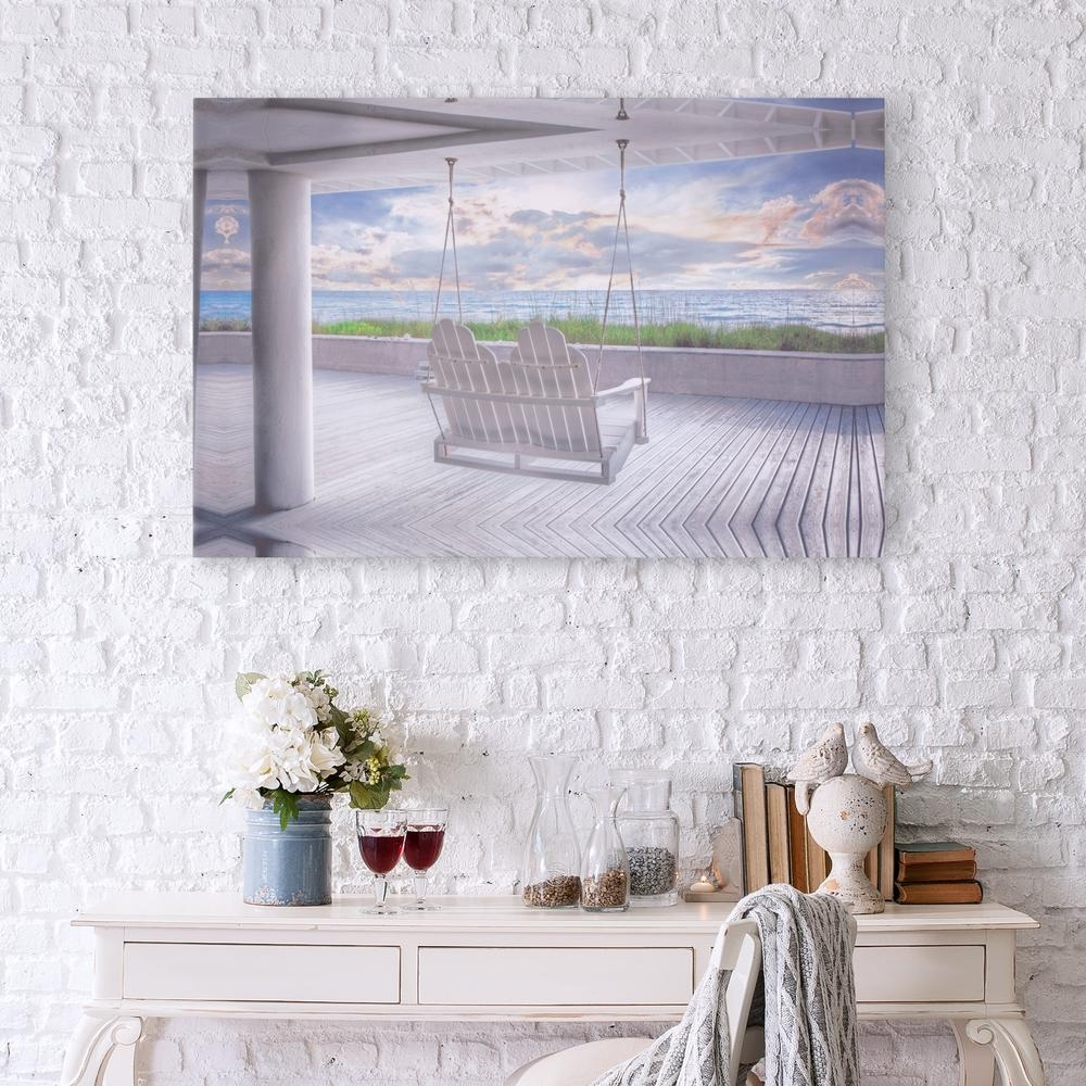 Best And Newest Coastal Wall Art Pertaining To Pinnacle Swing At The Beach Coastal Canvas Wall Art 1711 3375 – The (View 4 of 15)